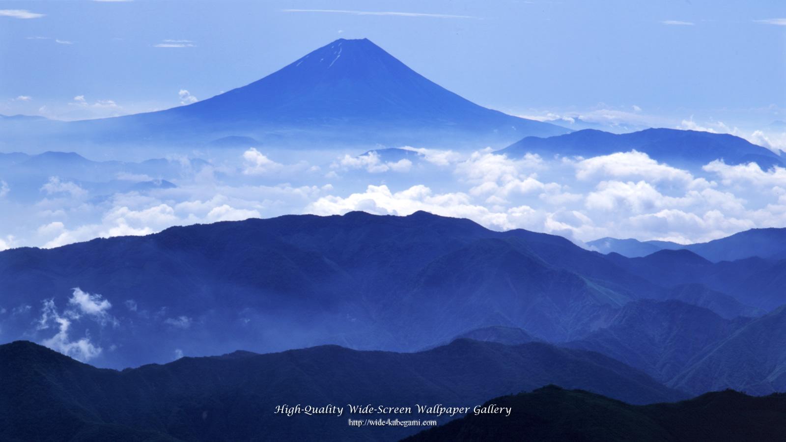富士山のワイド壁紙 1600x900 盛夏の富士山 無料ワイド高画質壁紙館