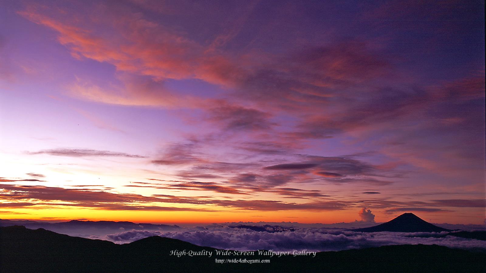 富士山のワイド壁紙 1600x900 朝焼けの富士山 無料ワイド高画質壁紙館